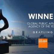 """Grayling, desemnată """"Cea mai bună agenţie de Public Affairs a anului"""" la Global SABRE Awards 2019"""