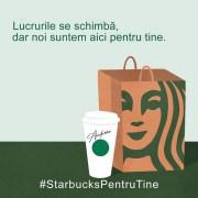 Starbucks oferă gratuit, în București, cafea celor ce lupă cu COVID-19