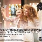 Profită de XTRA 20% reduceri în Băneasa Shopping City.