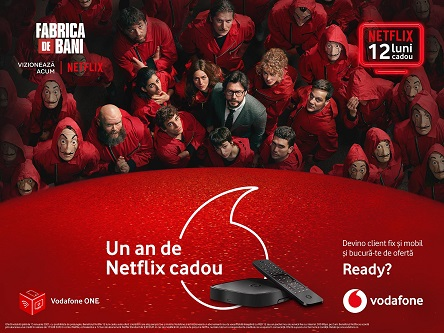 Oferta Vodafone ONE de Craciun include 12 luni de Netflix cadou