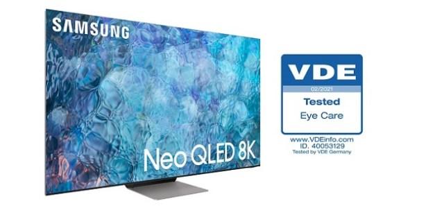 """Televizoarele Samsung Neo QLED 2021 obțin prima certificare """"Eye Care"""" din industrie din partea Asociației de Inginerie, VDE"""