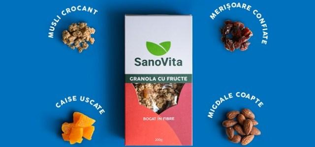 SanoVita își consolidează poziția de leadership în segmentul de musli și granola