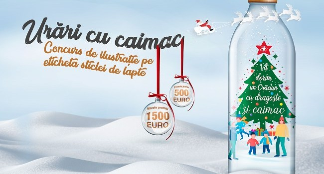 Laptaria cu Caimac anunta a treia editie a concursului de design pentru etichete pentru sarbatorile de iarna