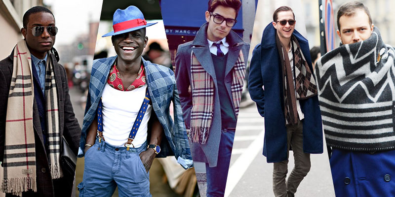 Scarves for Men Street Style Trend 2014