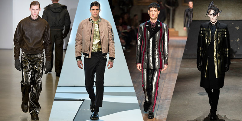 metallics men runway trends 2014