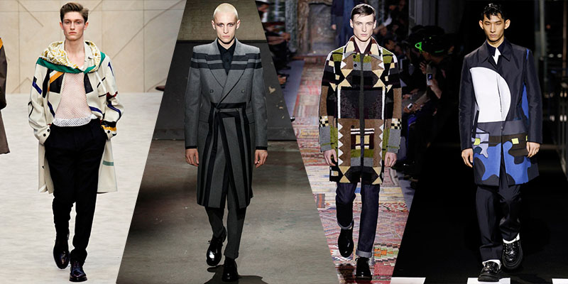 geometric coats men