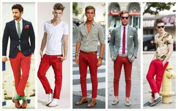 Image result for male red khakis