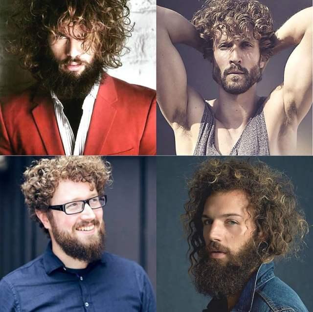 Curly Wavy Hair & Beard