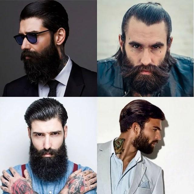 Slicked Back Hair & Beards