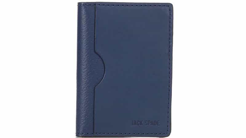 Jack Spade Grant Leather Vertical Flap Wallet