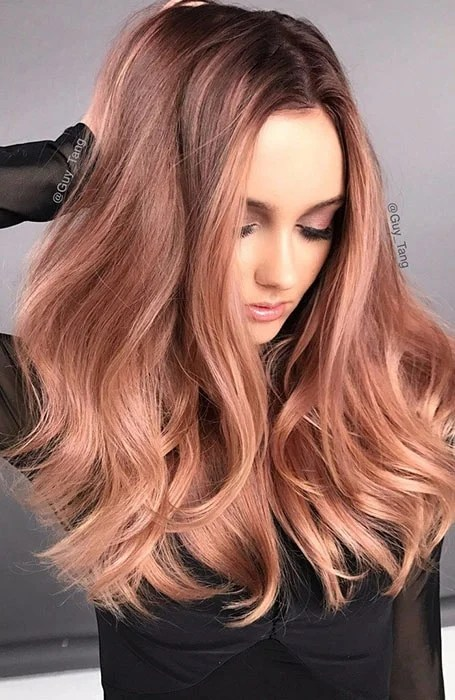 Chocolate Rose Gold Ombre