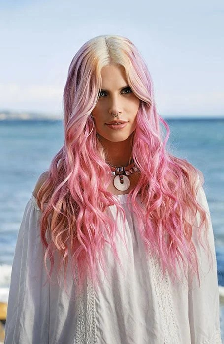 Pink, Lilac and Rose Gold Highlights