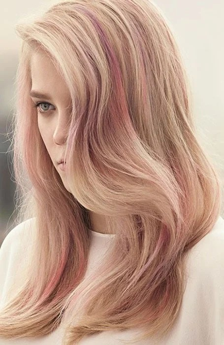 Pink and Rose Gold Highlights