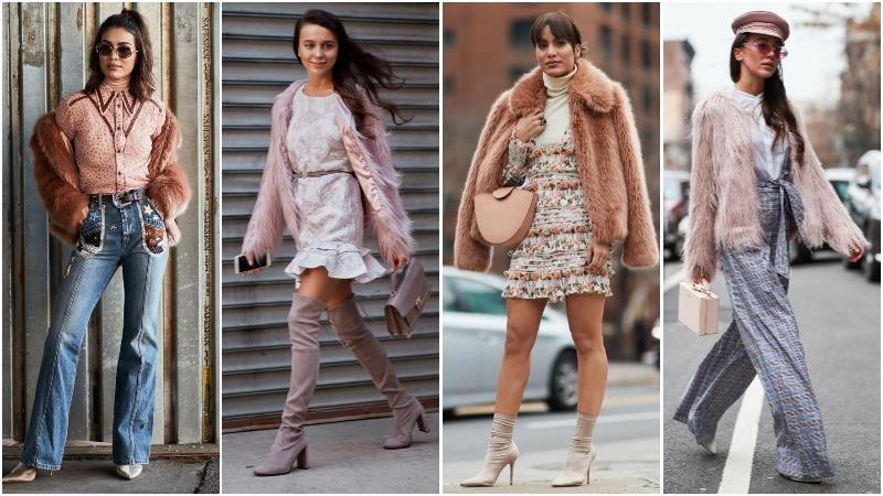 abrigos de piel rosa pastel
