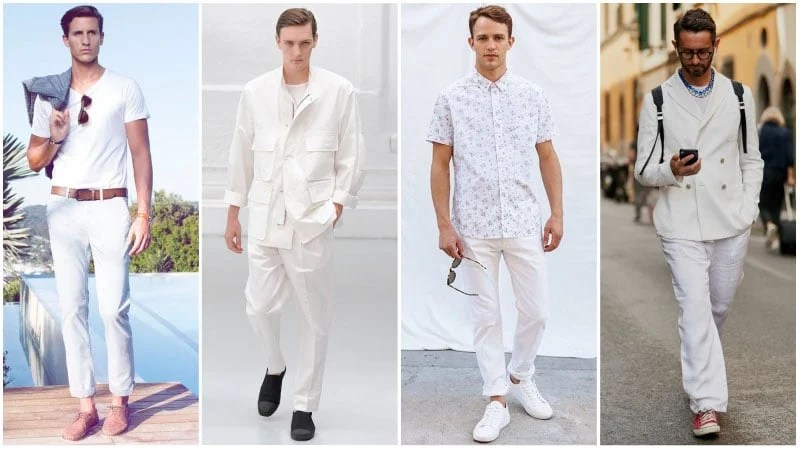 The Coolest All White Outfits For Men The Trend Spotter