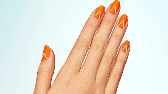 Matte Orangenails