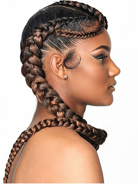 Braids To The Side