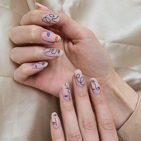 Line Art Nails