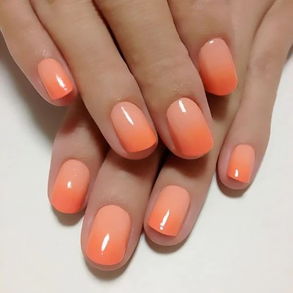 Orange Ombre Nails