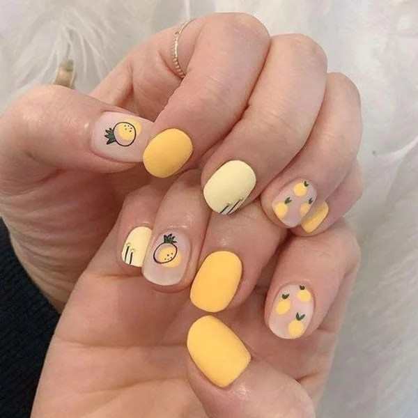 Pineapple Nail Design