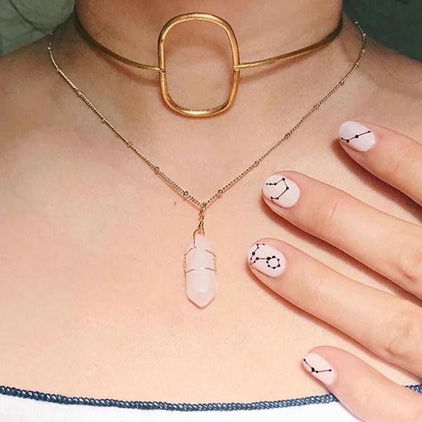 Elegant Astrology Nails