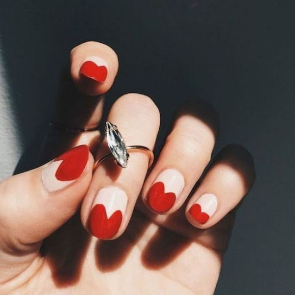 Elegant Hearts Nails