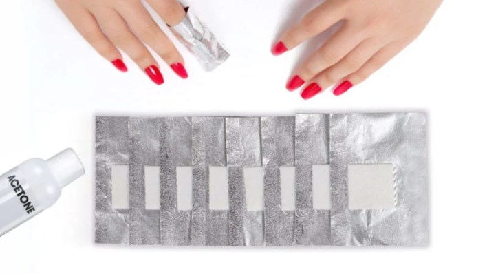 Acetone, Cotton Whool And Foil Wrap