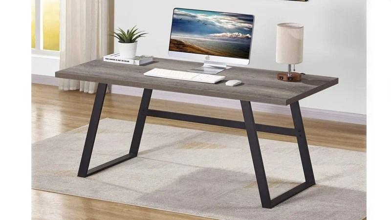 Bon Augure Rustic Wood Computer Desk