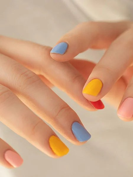 Feature Blue Nails