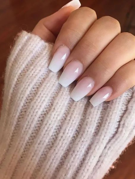 Pink And White Ombre Design