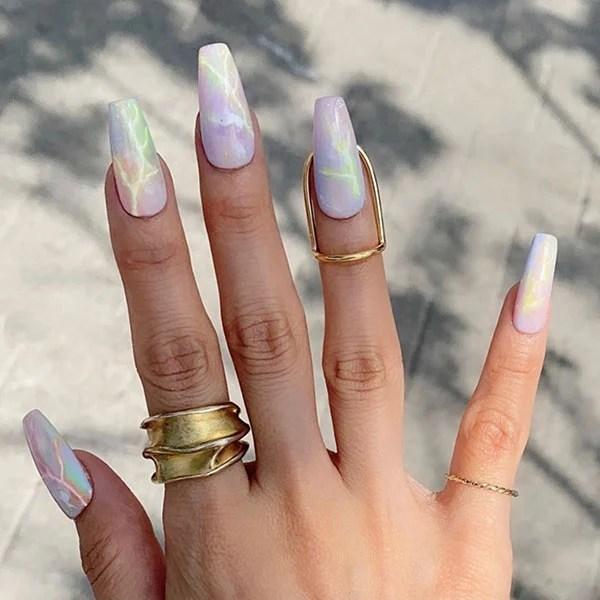 Tie Dye Inspired Nail Art