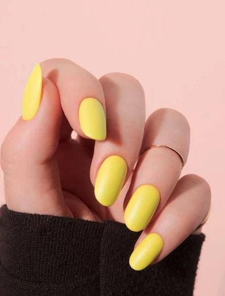 Classic Yellow Manicure