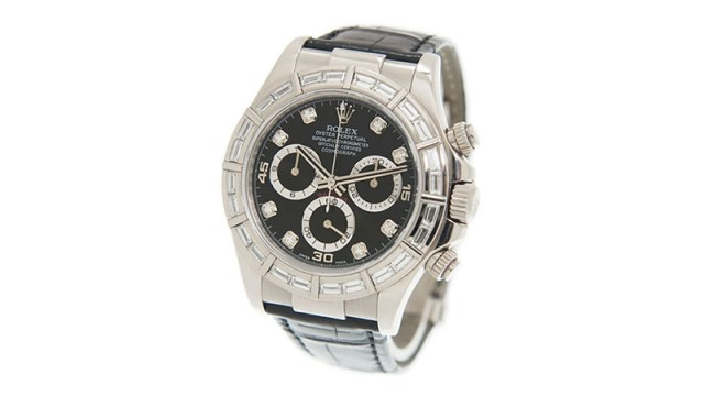 Cosmograph Daytona Chronograph Diamond Black Dial Men's Watch