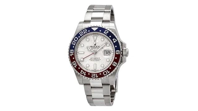 Gmt Master Ii Automatic Chronometer Meteorite Dial Pepsi Bezel Watch