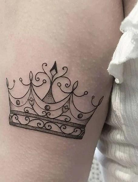 Small Crown Tattoo