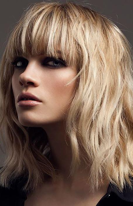 Fine Hair Medium Length Hairstyle With Bangs