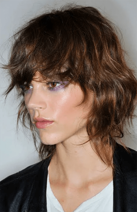 Shag Hairstyle With Bangs
