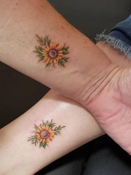 Sunflower Wrist Tattoo