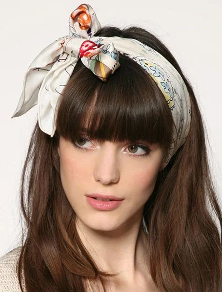 Bandana Hairstyle With Bangs