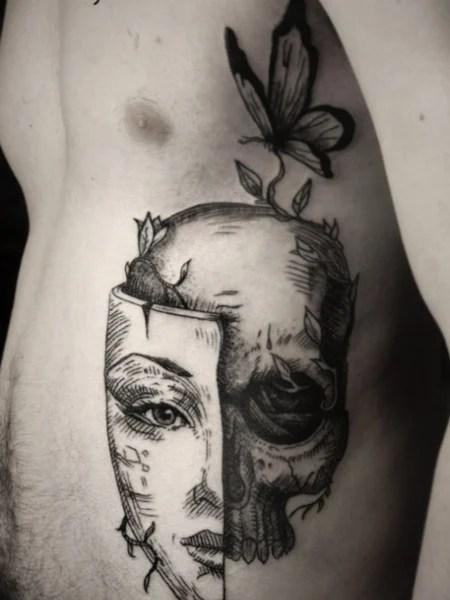 Butterfly Rib Tattoo