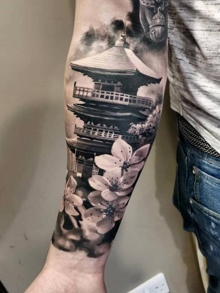 Japanese Temple Tattoo