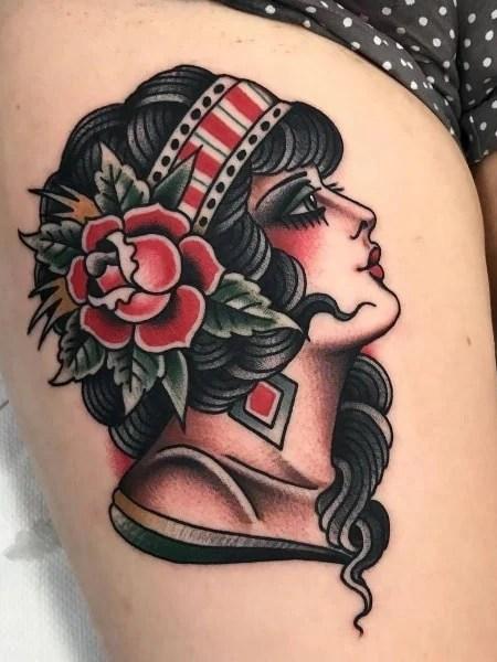 Traditional Portrait Tattoo