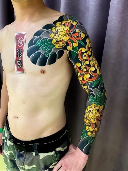 Yellow Japanese Tattoo