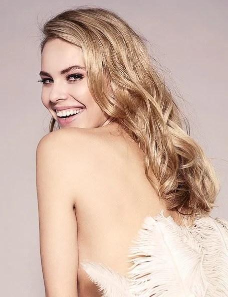 Platinum Blonde With Strawberry Highlights