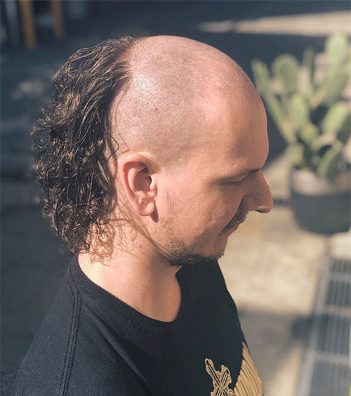 Skullet With Curly Hair