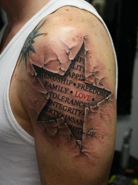3d Star Tattoo (1)