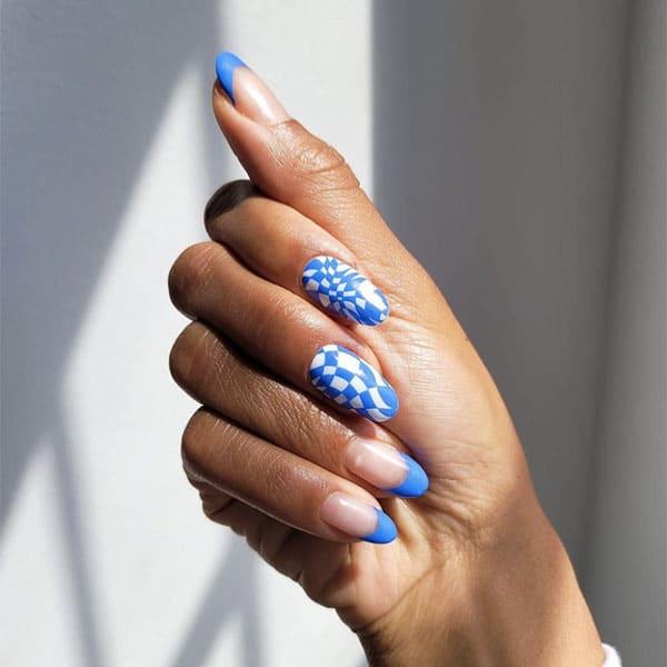 Blue Abstract Art Nail Ideas Nailsbymei