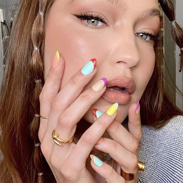 Color Block Nails Pretty Nails Nailsbymei