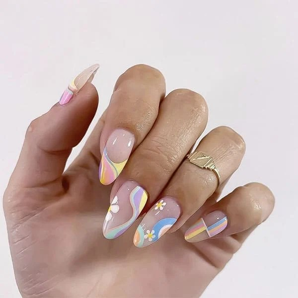 Florals And Rainbows Pretty Nails Nails And Soul