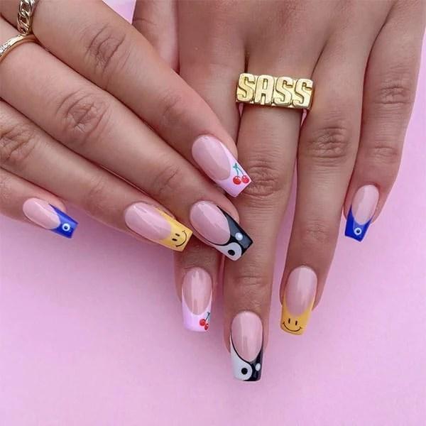 Fun French Manicure Nail Ideas Sassnailartistry